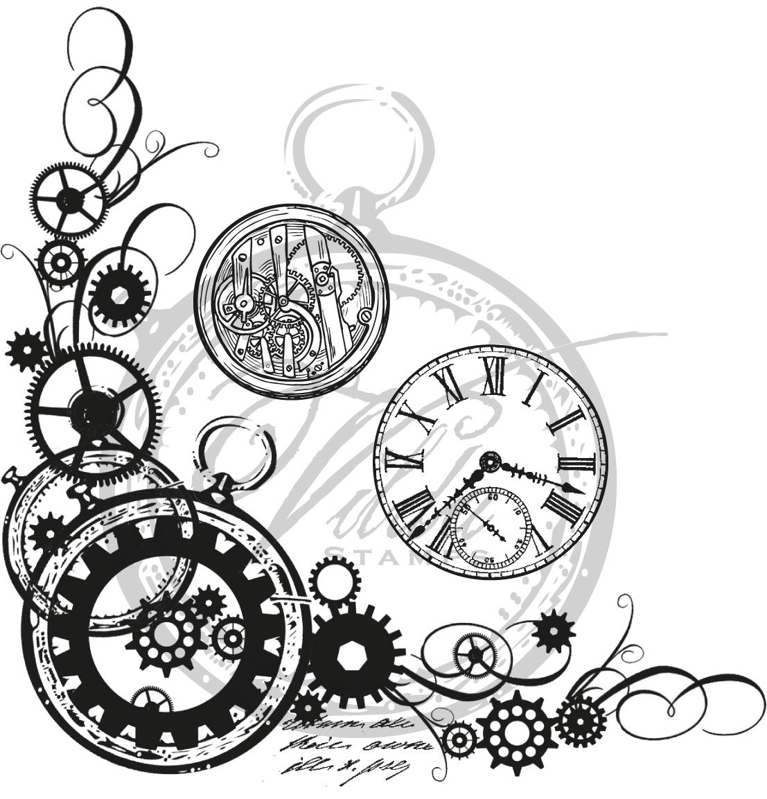 Clockwork Gears Drawing go Back Image