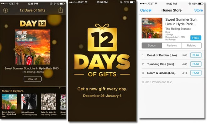 It's day 12, the last day of the big 12 Days of Gifts event.. Today's free gifts is an EP from The Rolling Stones. Grab it here now for free!