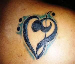 matching love tattoos for couples