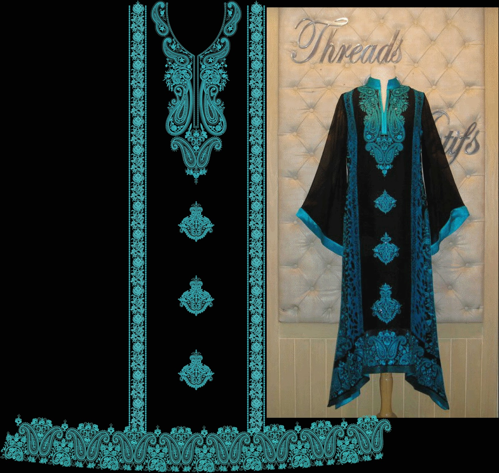 Latest Embroidery Designs For Airline Frocks Amp Salwar