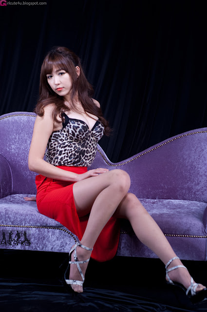 2 Lee Eun Hye - Hot Red Leopard  -Very cute asian girl - girlcute4u.blogspot.com