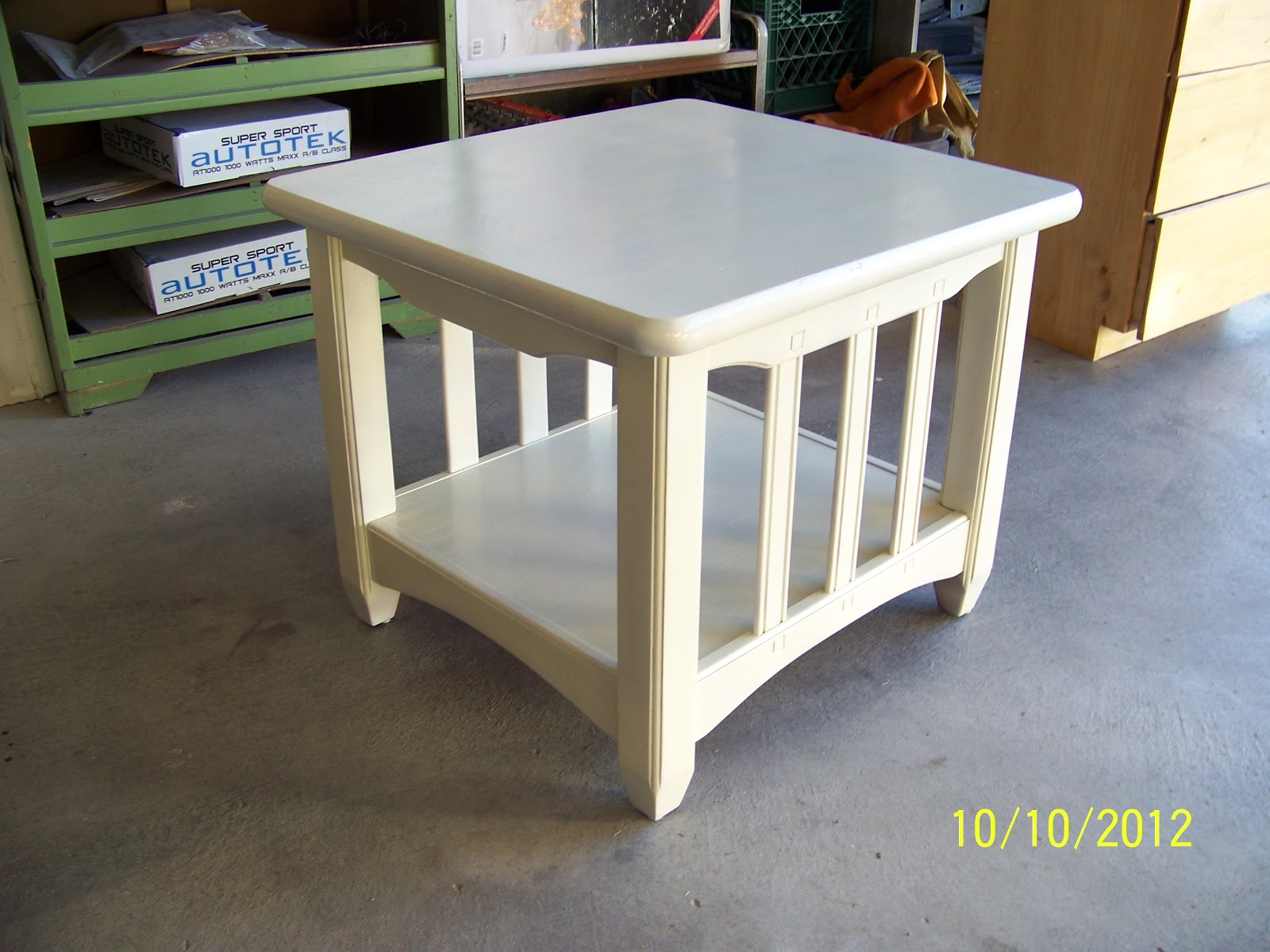 Here Is A Cream Colored End Table $30 Obo