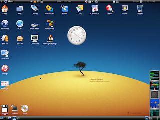 Contoh Tampilan Layar Linux