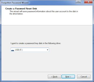 Cara Mudah Membuat Password Reset Disk Windows 7 Dengan Flashdisk