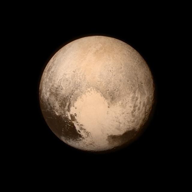 Hình ảnh mới nhất và chi tiết nhất về Diêm Vương Tinh. Bản quyền hình : NASA/APL/SwRI.