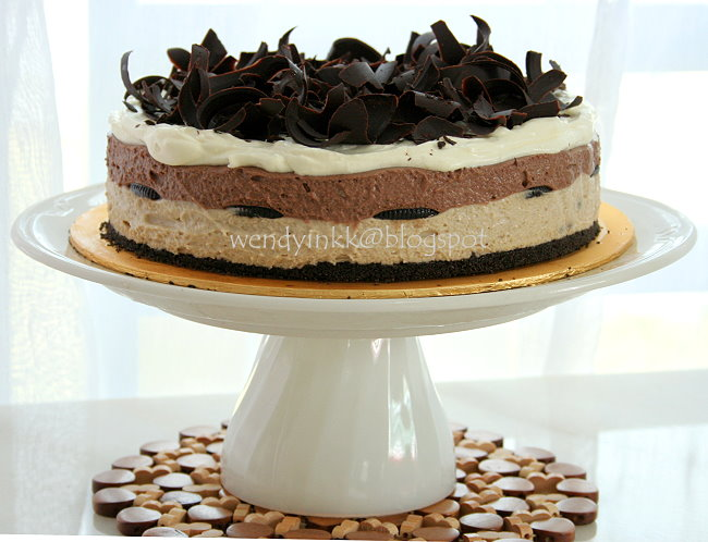 ... for 2.... or more: Chocolate Chesnut Mousse Cake - Mousse Cake #2