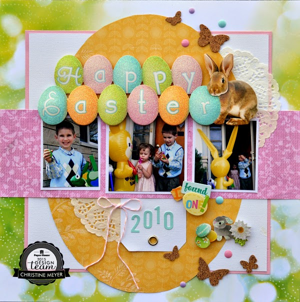 Easter layout by Christine Meyer