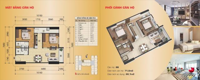 Thiết kế căn hộ 8B