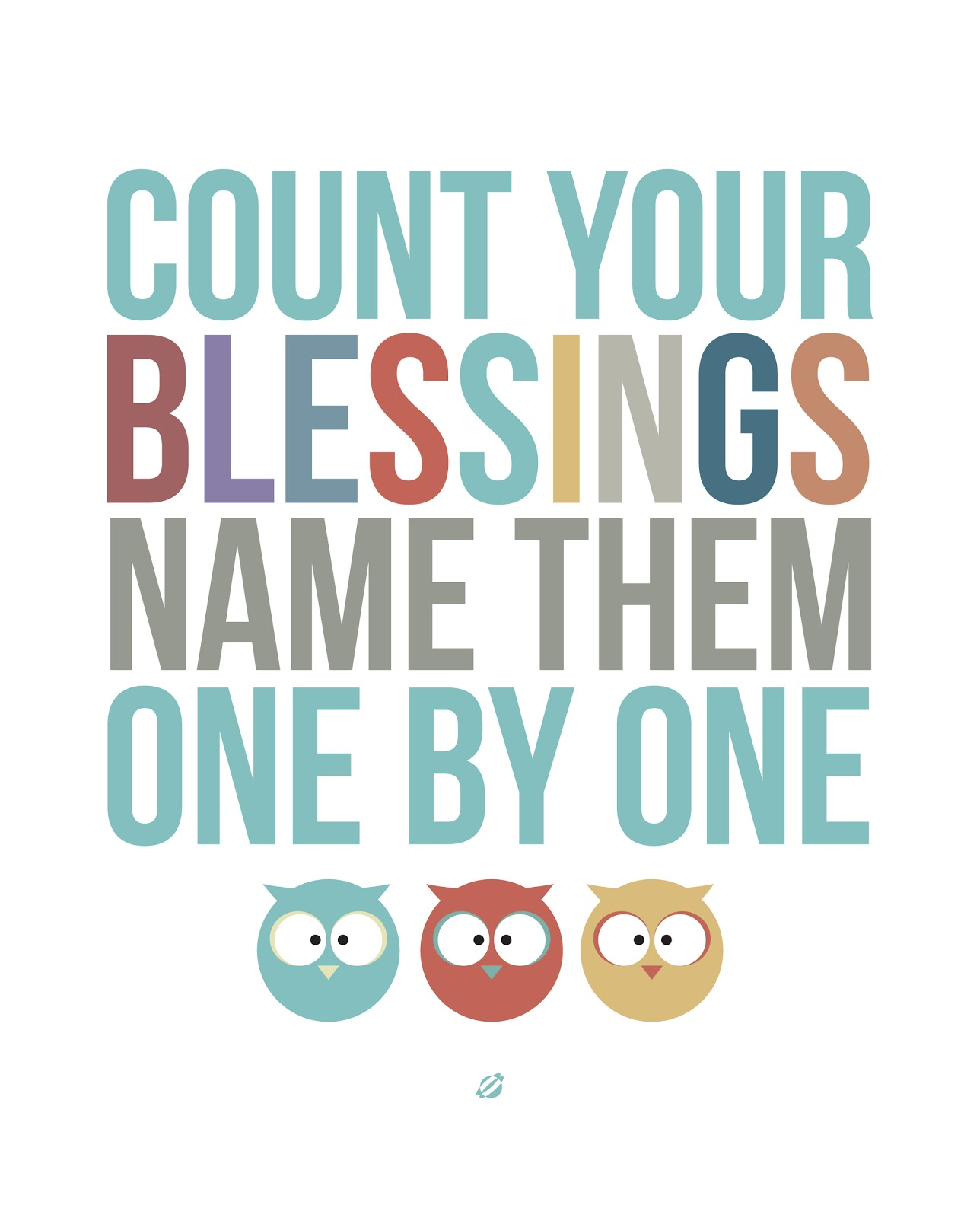 LostBumblebee 2013- COUNT YOUR BLESSINGS- Free Printable