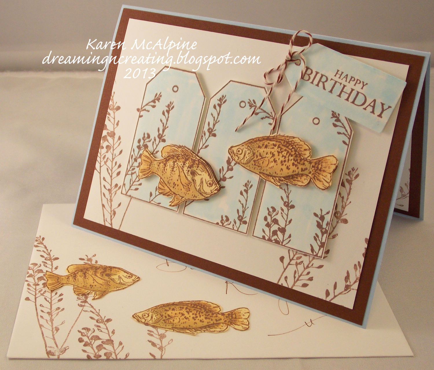 Dreaming and Creating Masculine Birthday Card with Fish – Fish Birthday Card