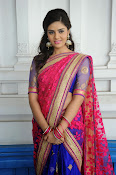Sri Mukhi Gorgeous Half saree Photos-thumbnail-6