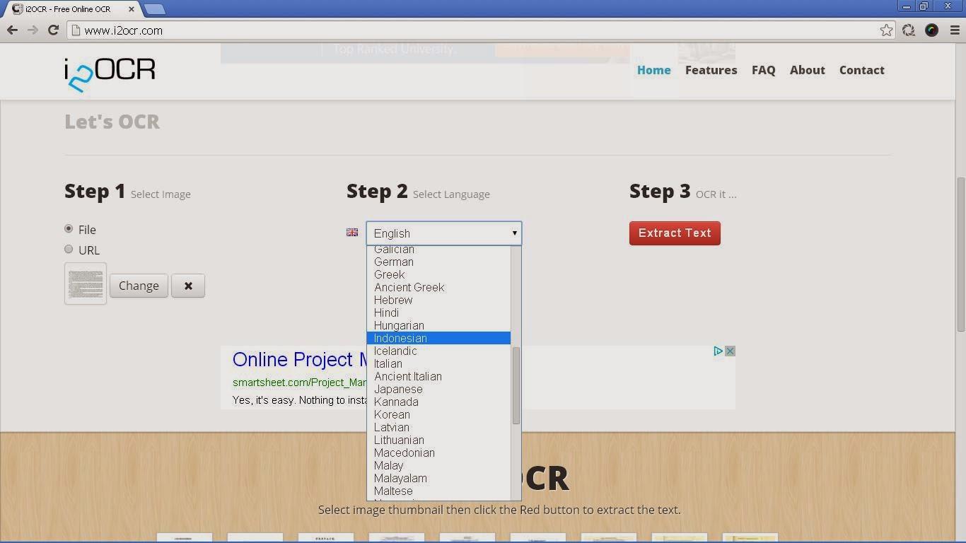 Gambar 3. Select Language