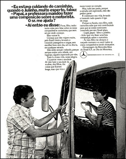 Mercedes-Benz. brazilian advertising cars in the 70. os anos 70. história da década de 70; Brazil in the 70s; propaganda carros anos 70; Oswaldo Hernandez;
