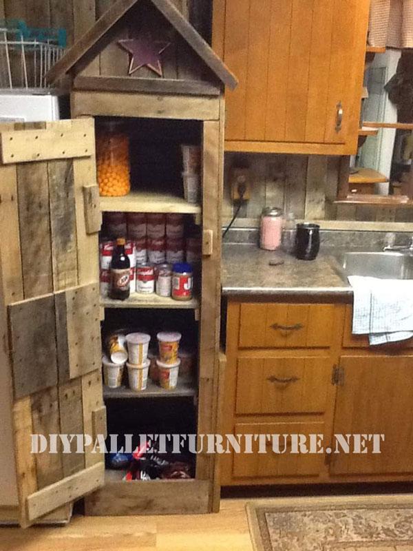 Armario despensa para la cocina realizado con palets - Armarios hechos con palets ...