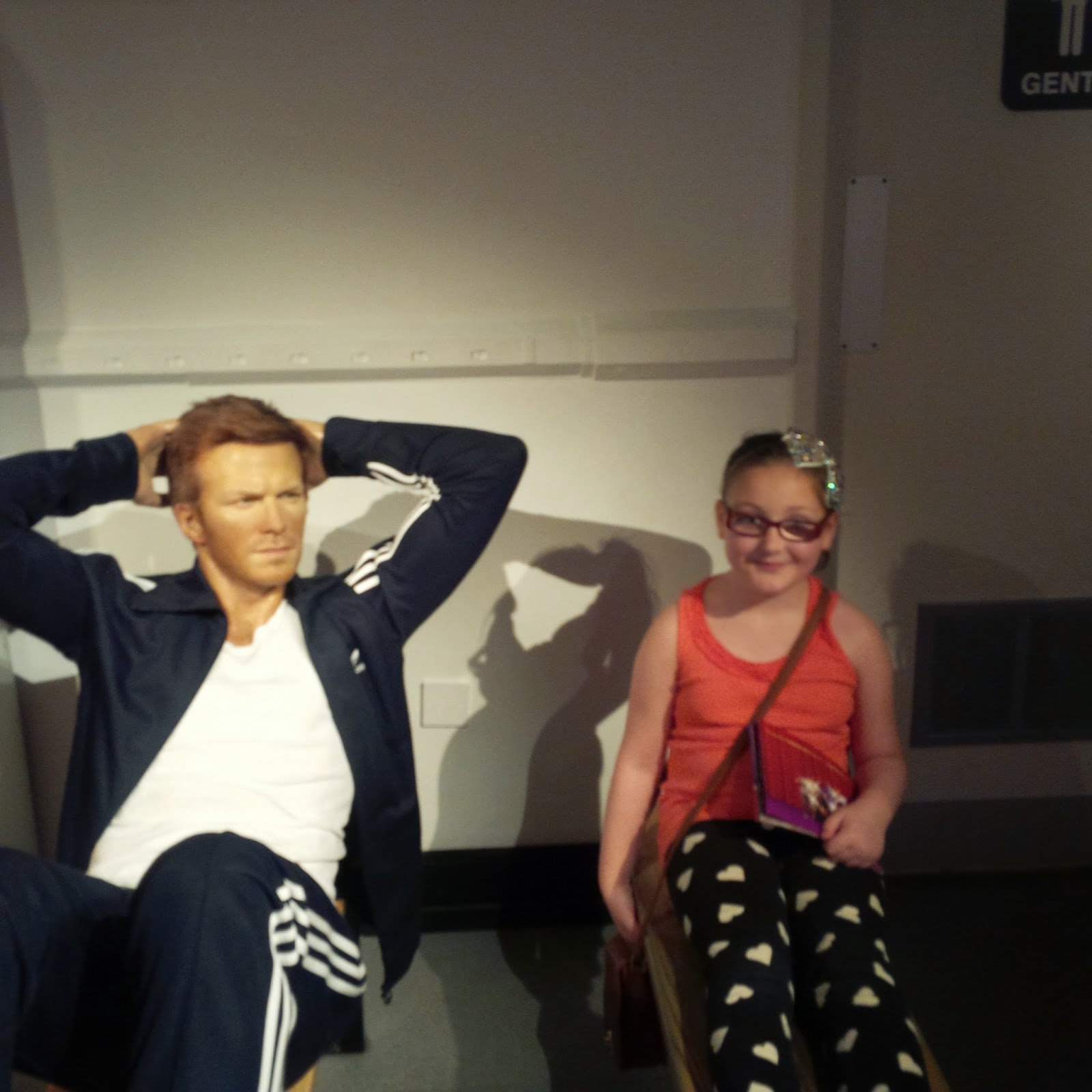 olivia with the david beckham waxwork