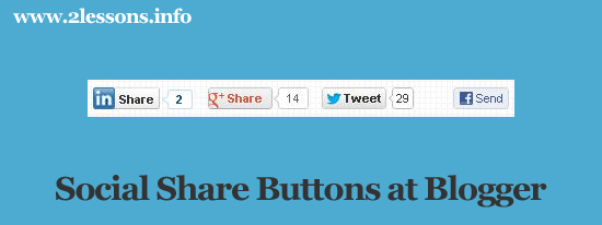 adding social share buttons at blogger