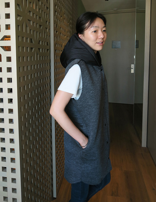 Snap-Button Hooded Vest
