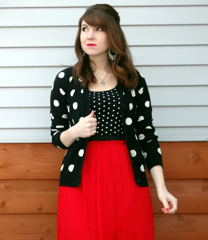 polka dot cardigan polka dot tank mixing polka dots soft goth corpgoth 
