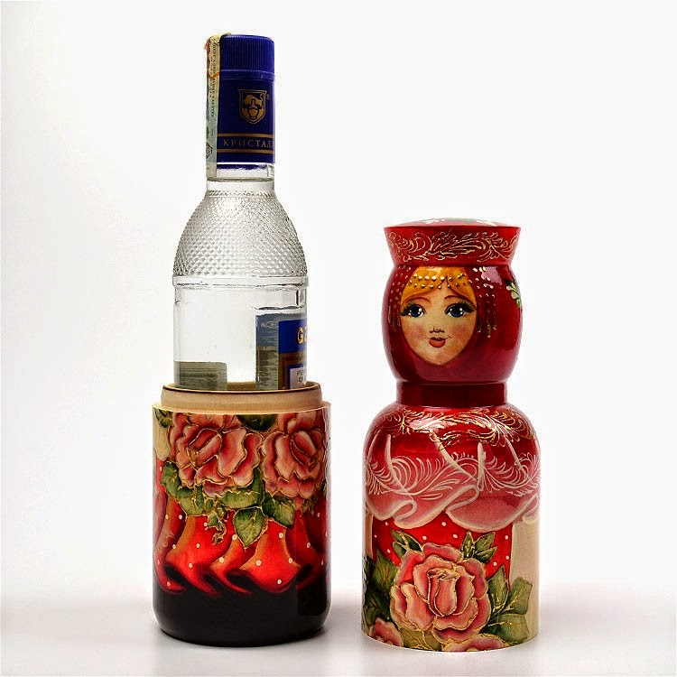 Russian Bottle Holder - open - Rose Princess
