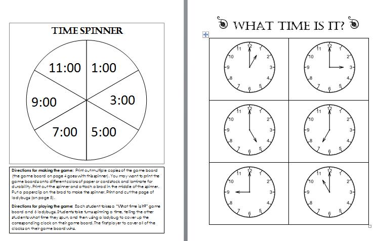 Worksheet for kindergarten clock : Time Worksheets » Learning About Printable
