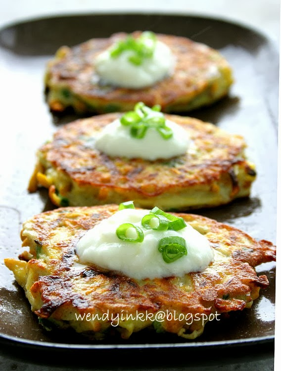 ... for 2.... or more: Summer Squash Pancakes - Zucchini Courgettes #1