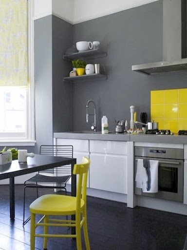 Themes for baby room theme design neon decor ideas for home for Grey yellow kitchen ideas