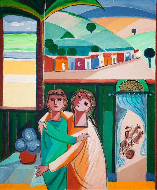 pintura de casal
