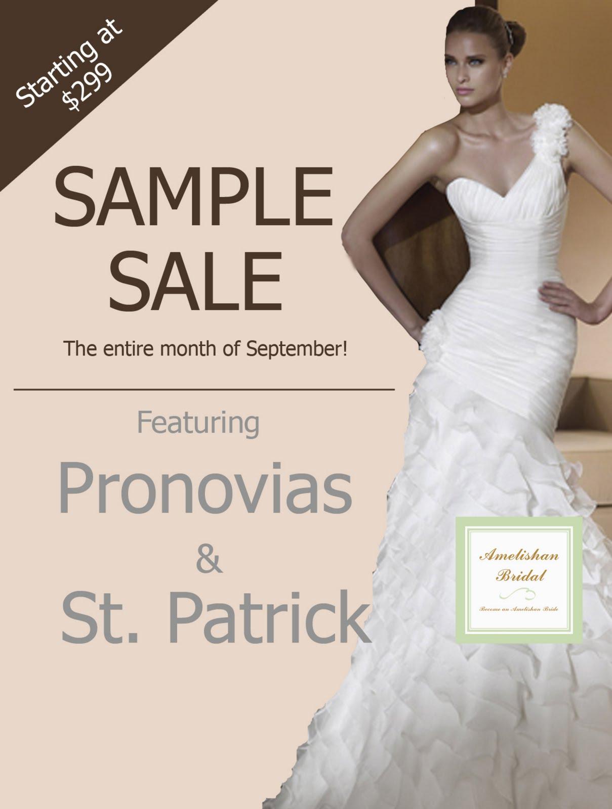 Amelishan bridal pronovias and san patrick bridal sample sale for Wedding dress sample sale san francisco