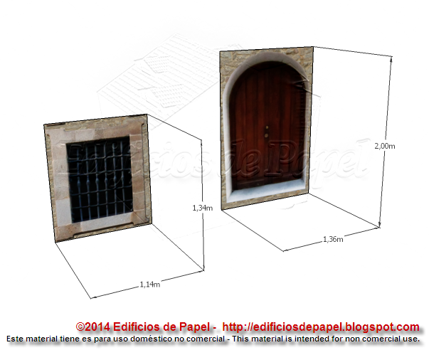 Textures for door and window are provided