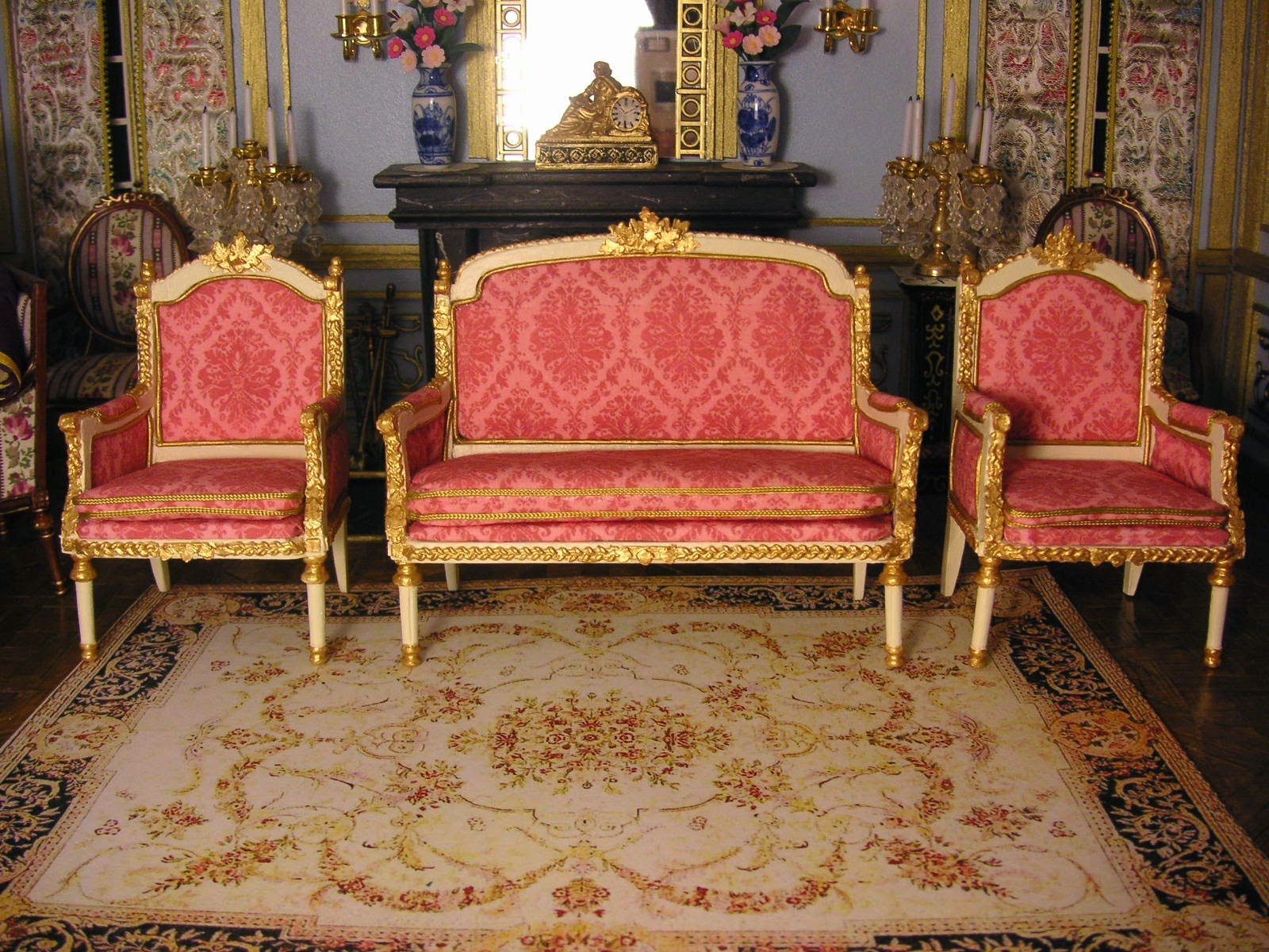 Ensemble de salon complet inspiration louisxvi for Ensemble salon complet