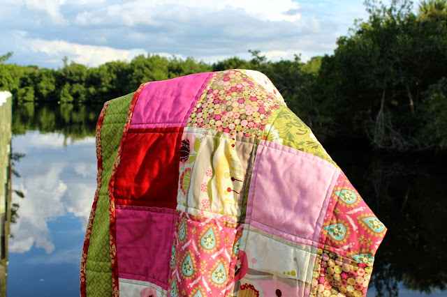 Because I'm Me Patchwork in Pink quilt
