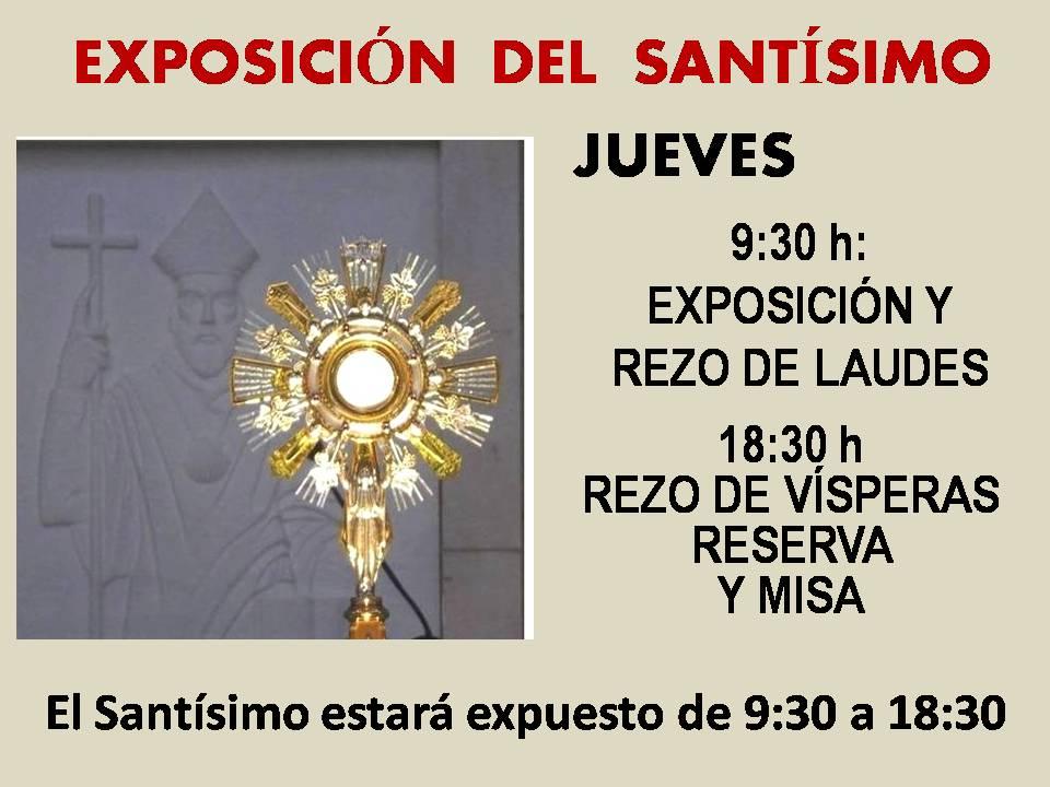 Exposición del Santísimo