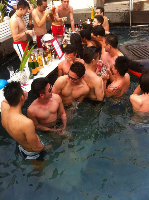 gay pool party: