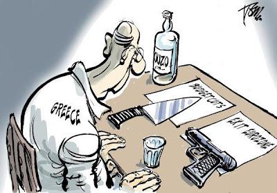 Eleições na Grécia, Grécia, Grécia a votos, Suicídio, Syriza, Nova Democracia, Cartoon Eleições na Grécia