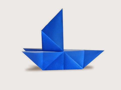 Hướng dẫn cách gấp Thuyền buồm bằng giấy đơn giản - Xếp hình Origami với Video clip - How to make a Tricky Boat