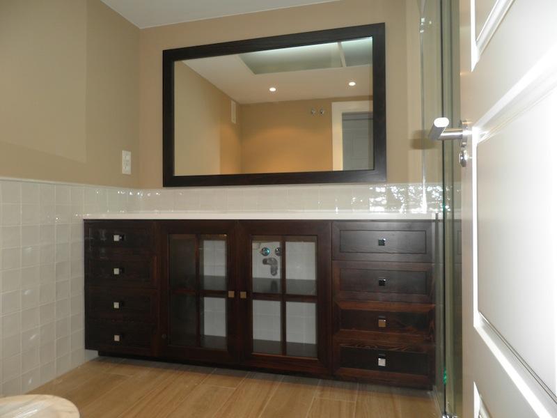 Mueble de lavabo para cuarto de ba o muebles cansado for Muebles de bano zaragoza
