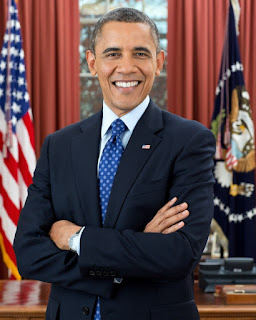 Official White House photo of smiling and confident President Barack Obama