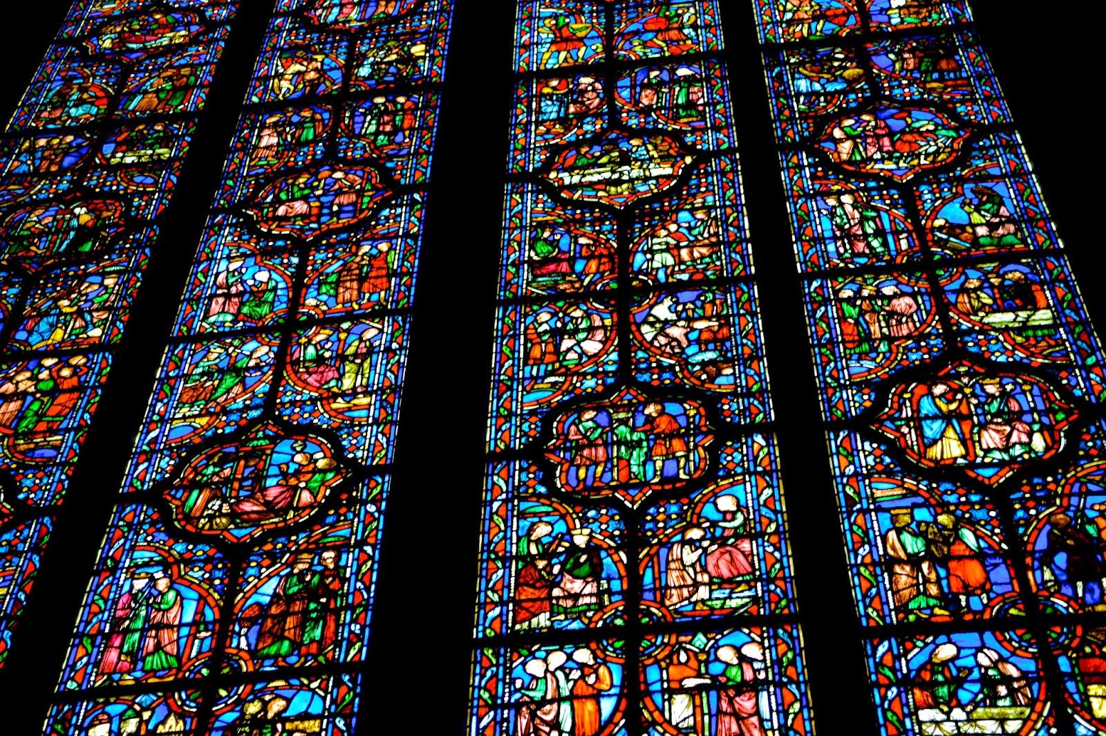Sainte-Chapelle. Details Vitrail Mur Sud