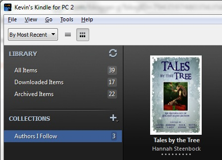 "My Kindle with Tales By The Tree in the ""Authors I Follow"" collection"