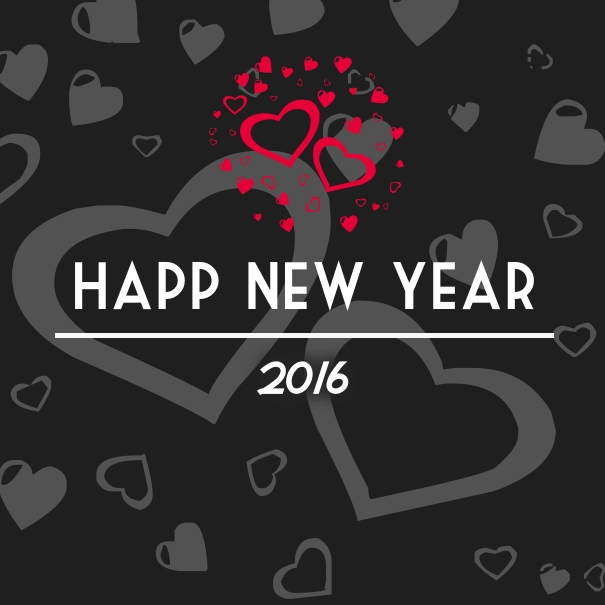 Happy New Year 2016 Balloon Love Special Wallpaper