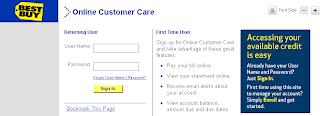 Best Buy HSBC Credit Card Account