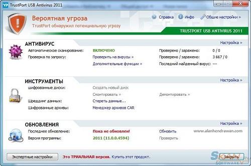 Features of TrustPort Antivirus USB Edition