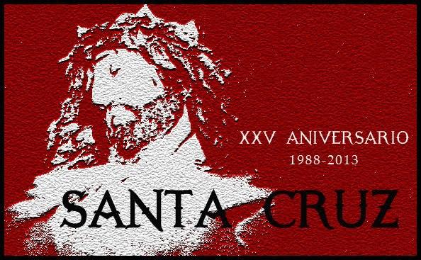 """CARTEL XXV ANVERSARIO DE LA COFRADÍA DE """"LA SANTA CRUZ"""""""