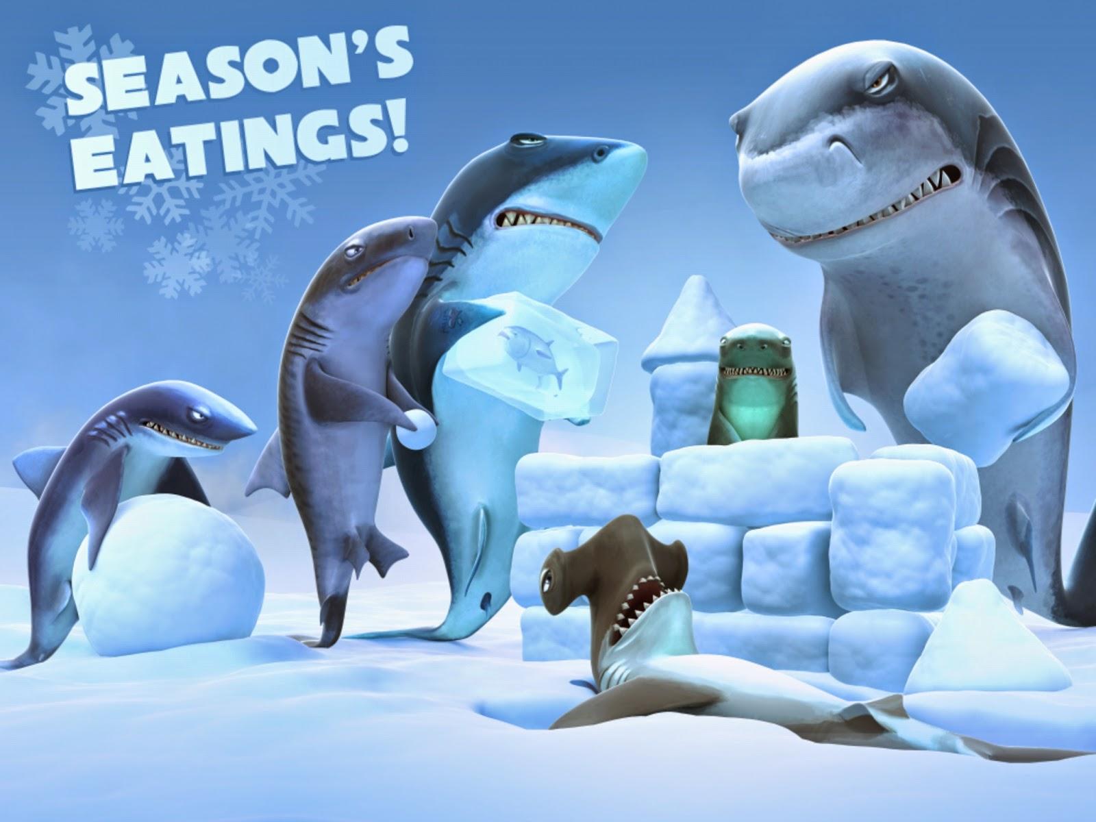 لعبة القرش الجائع Hungry Shark Evolution للاندرويد  صور لوجو logo