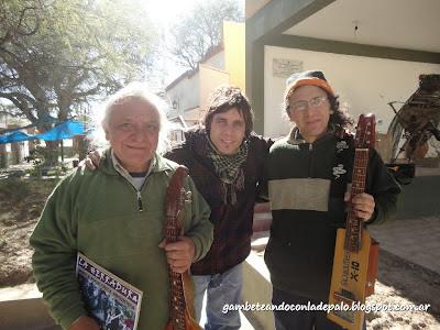 Con Elpidio Herrera y Manuel, su hijo - Gambetandoconladepalo