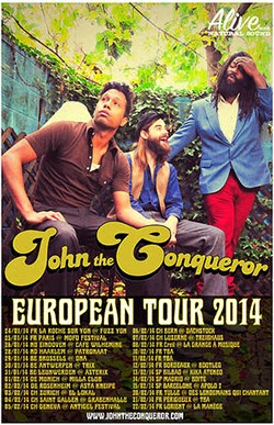 Conciertos de John The Conqueror en Bilbao, Madrid y Barcelona