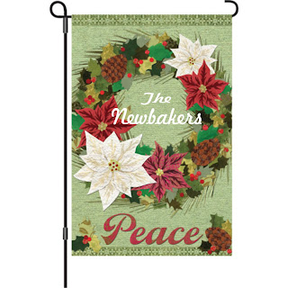 Personalized Christmas Garden FLag