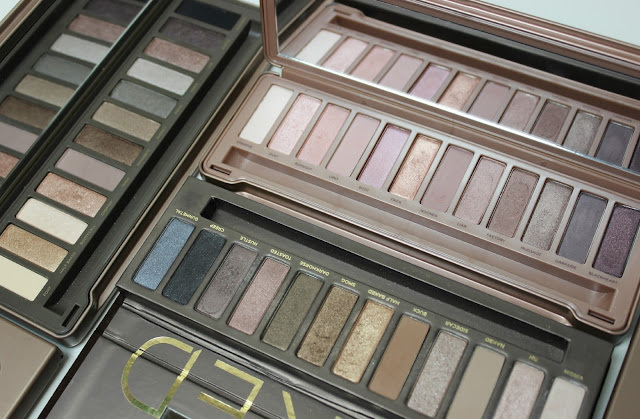 A picture of Urban Decay Naked, Urban Decay Naked 2 and Urban Decay Naked 3