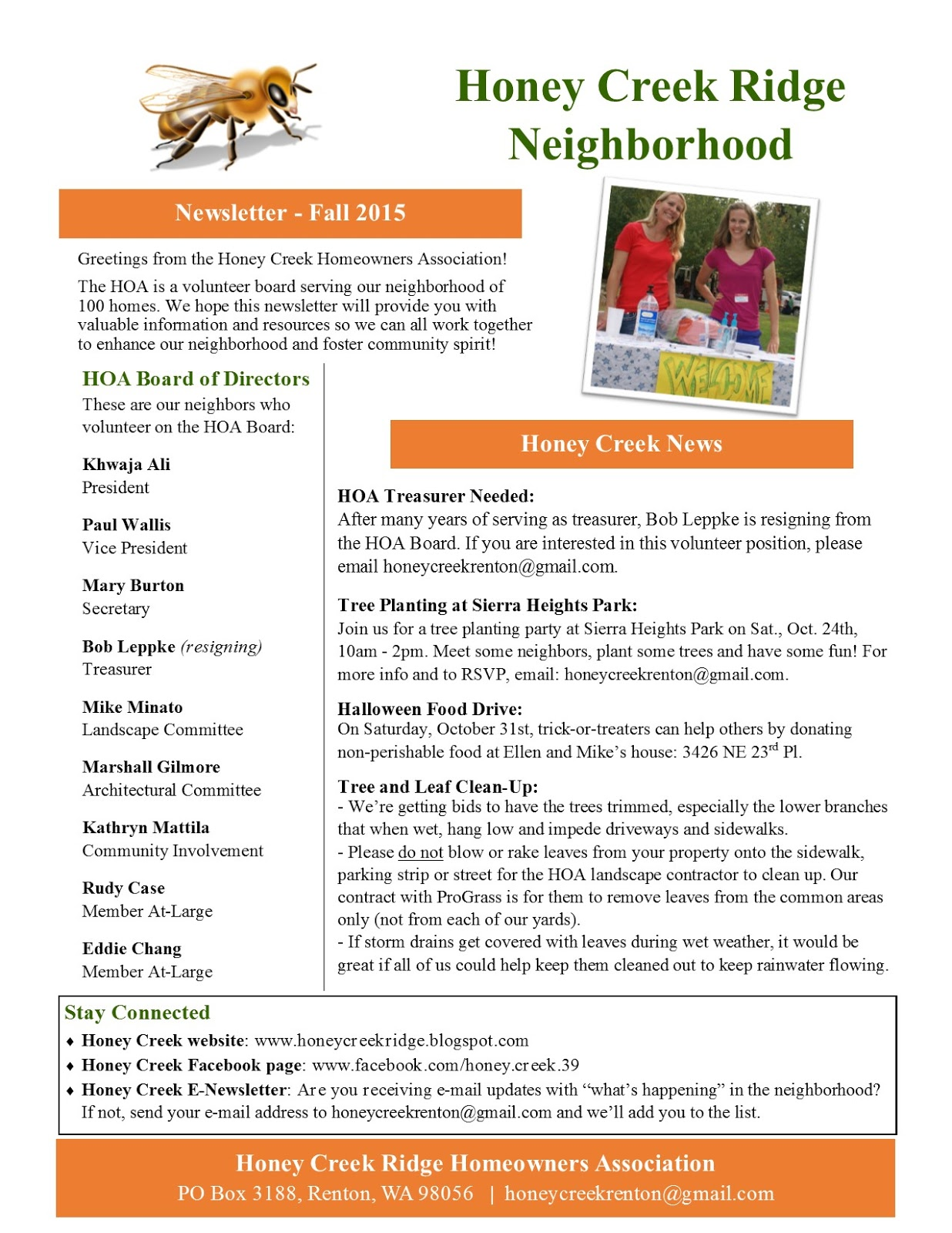 Honey Creek Ridge: Newsletters