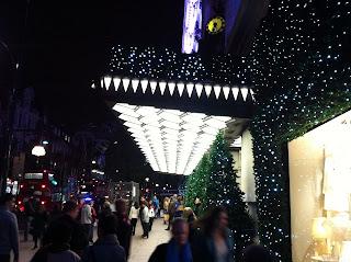 Luci di natale a Oxford Street a Londra